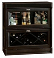 Drop Down Glass Doors Console Home Wine Bar Furniture