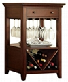 Wine Glass Rack With Wine Cabinet Bar Height Table