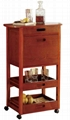 Home Dining Room Mini Portable Rolling Vintage Bar Cart