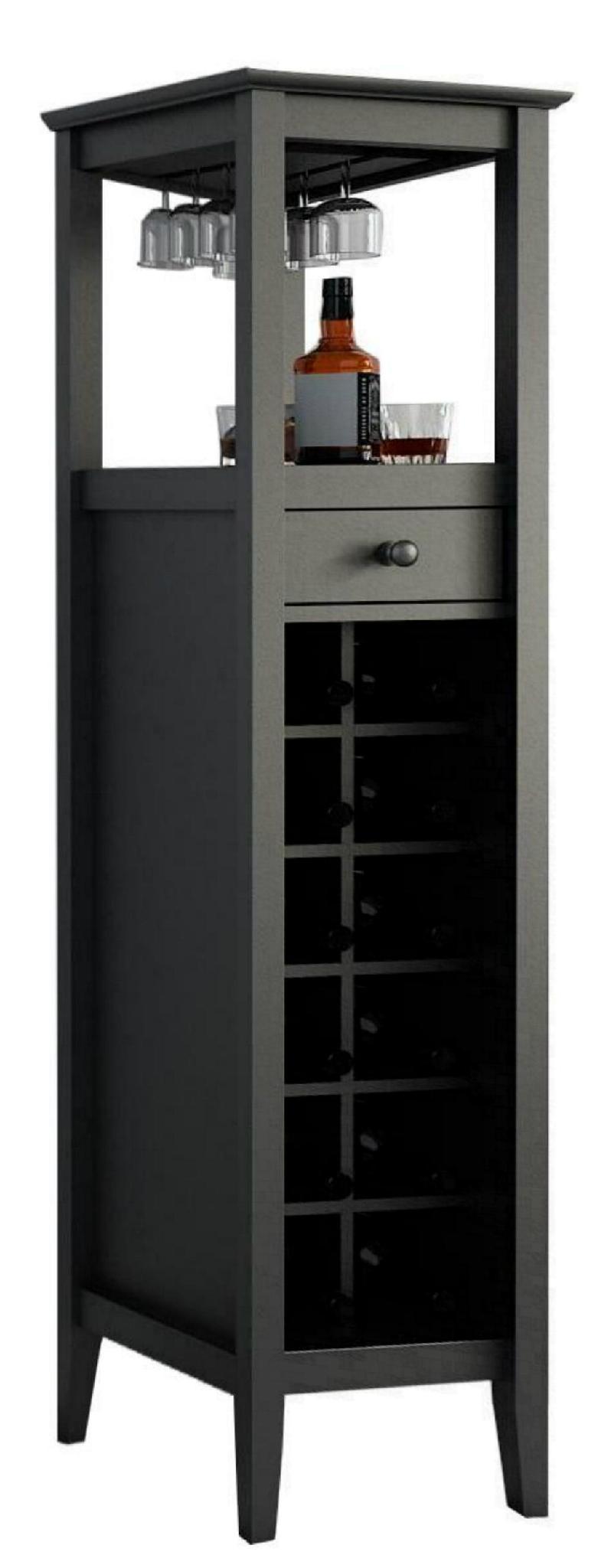 12 Bottles Modern Home Slim Tall Storage Wine Bar Cabinet Tower ...