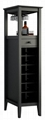 12 Bottles Modern Home Slim Tall Storage Wine Bar Cabinet Tower