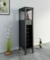 12 Bottles Modern Home Slim Tall Storage Wine Bar Cabinet