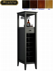 12 Bottles Modern Home Slim Tall Storage Wine Bar Cabinet Tower