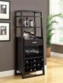 15 Bottles Open Shelves Dulcet Tall Wine Bar Cabinet