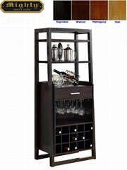 15 Bottles Open Shelves Dulcet Tall Wine Bar Cabinet Furniture