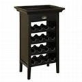 16 Bottles Wine Storage Racks Black Buffet Bar Height Table