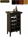 16 Bottles Wine Storage Racks Black Buffet Bar Height Table
