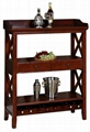 Wooden 2 Tiered Wine Rack Funiture Stand Wine Racks