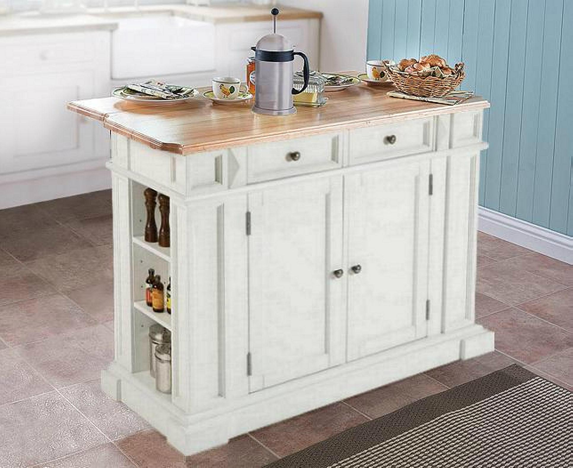 Home Styles Butcher Block Top Kitchen Island : Home Styles Butcher Block White Portable Kitchen Island Ideas - WD-3736 - Mighty (Taiwan ...