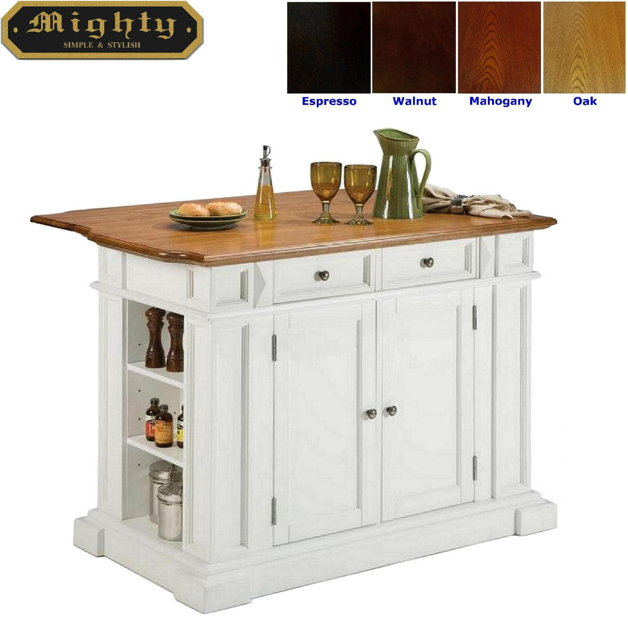 Home styles butcher block white portable kitchen island for Butcher block manufacturers