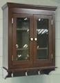 3 Hooks Glass Door Bathroom Wall Medicine Over Toilet Cabinet