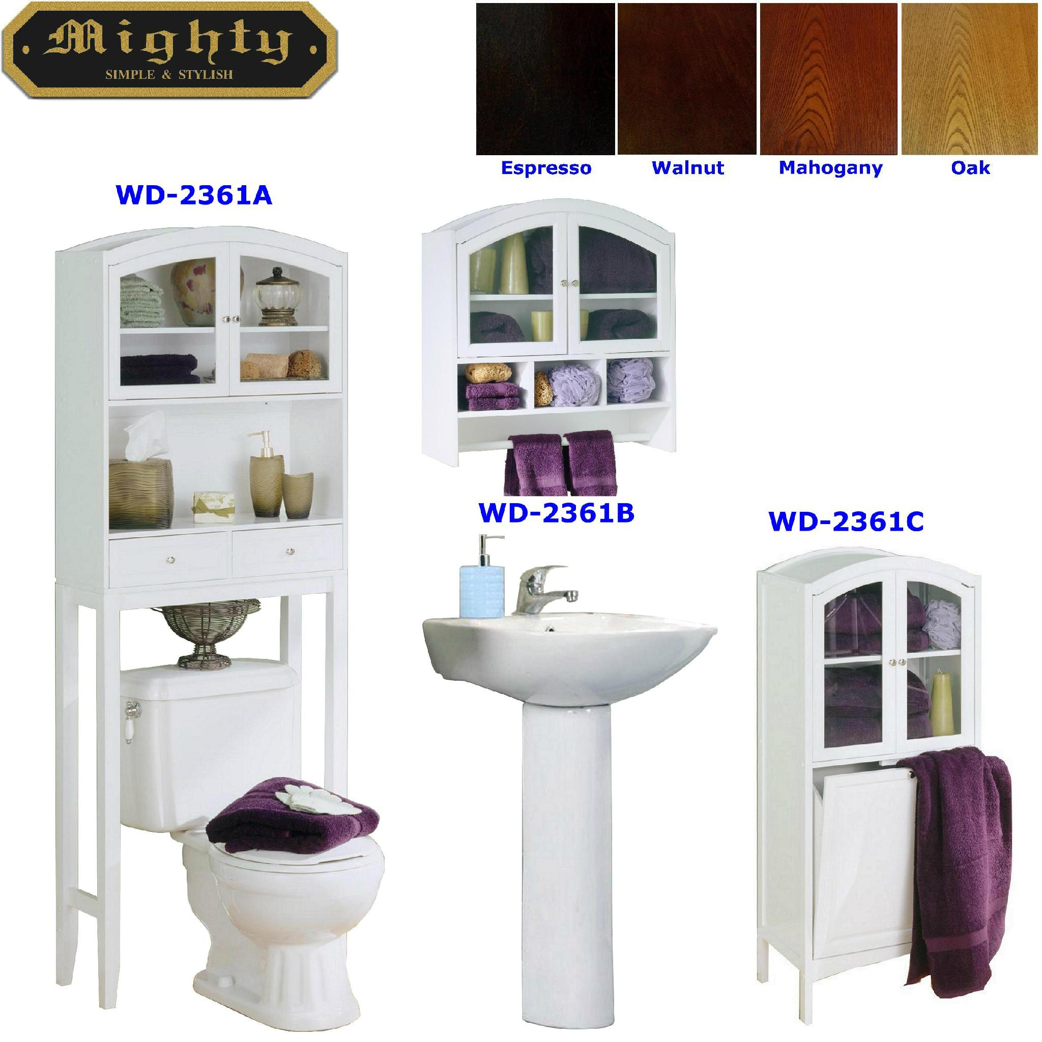 Arch Top Laundry Cabinet & Bathroom Space Saver Over Toilet WD