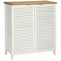 Louvered Style Linen Cabinets Modern Bathroom Vanity