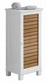 Slat Style Space Saving Above Toilet Storage Bathroom Cabinet