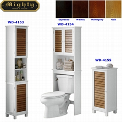 Slat Style Space Saving Above Toilet Storage Bathroom Cabinet