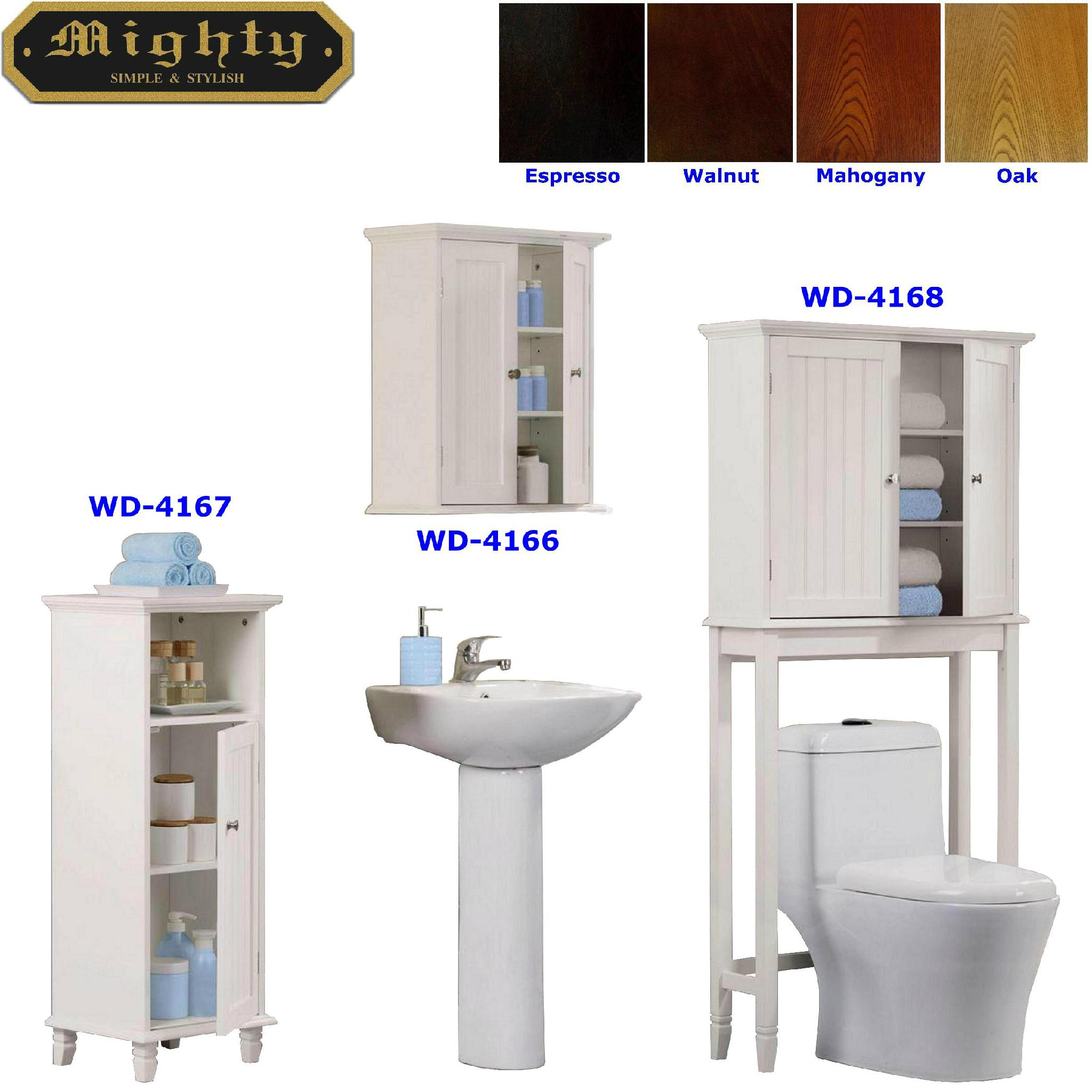Bathroom Over Toilet Shelving Cabinet & Linen Tower - WD-4166~4168 ...