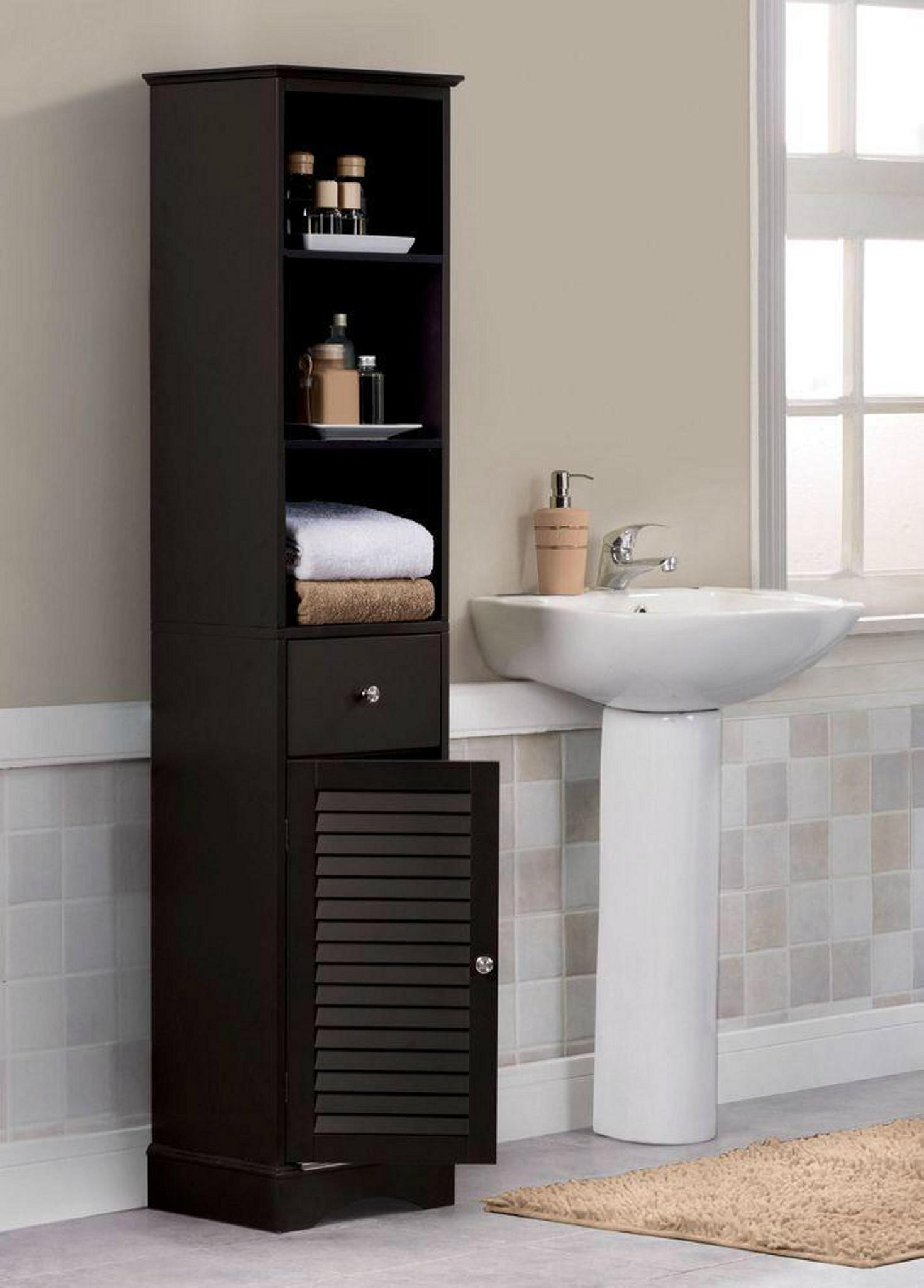 Blind Door Bathroom Tall Cabinet Amp Bathroom Shelves Over