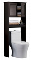Blind Door Bathroom Tall Cabinet & Bathroom Shelves Over Toilet