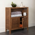 Collection of Slat Wood Toilet Rack Bathroom Furniture