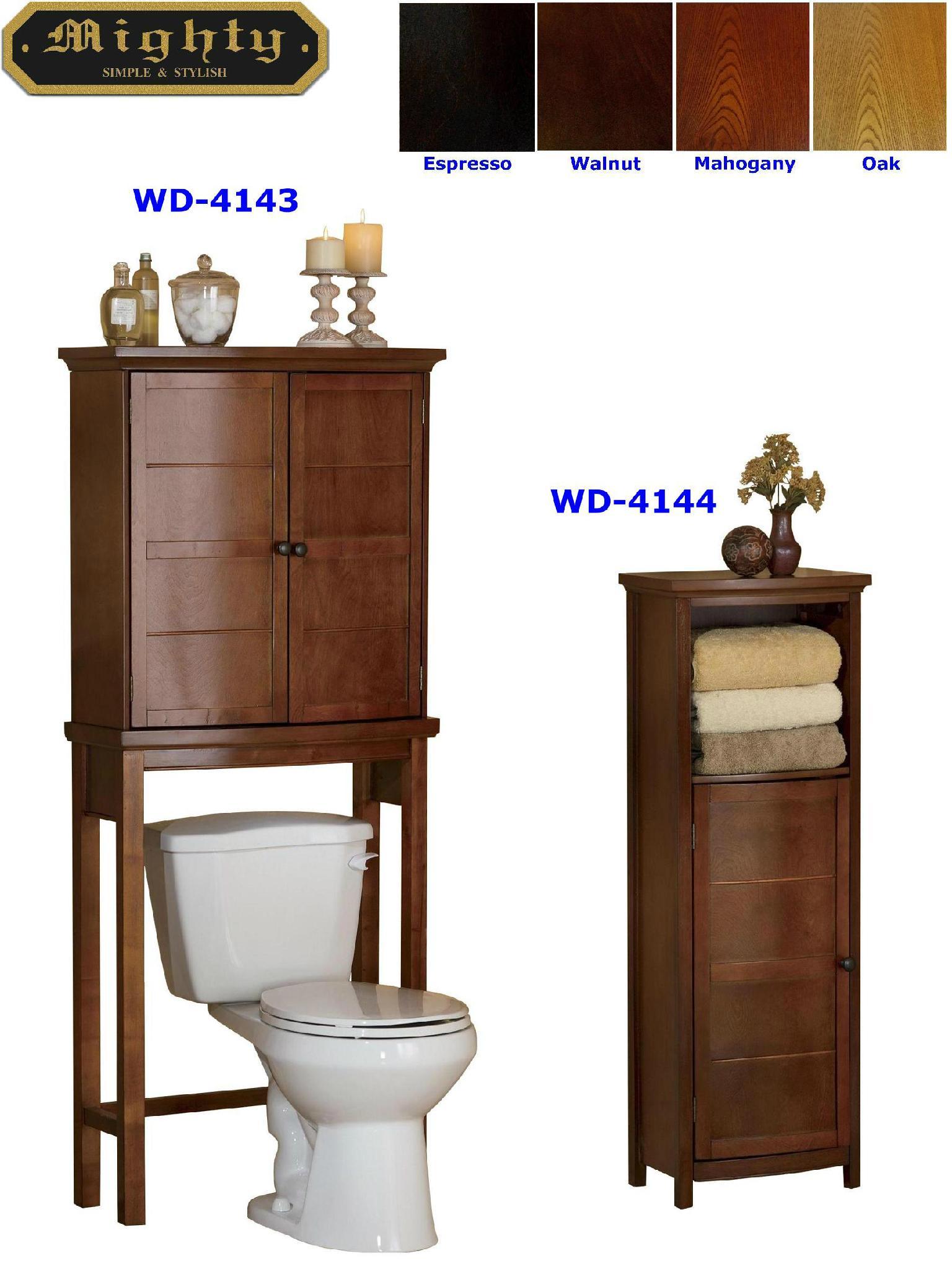 Bathroom Floor Cabinet & Over Toilet Storage Cabinet - WD-4143 ...