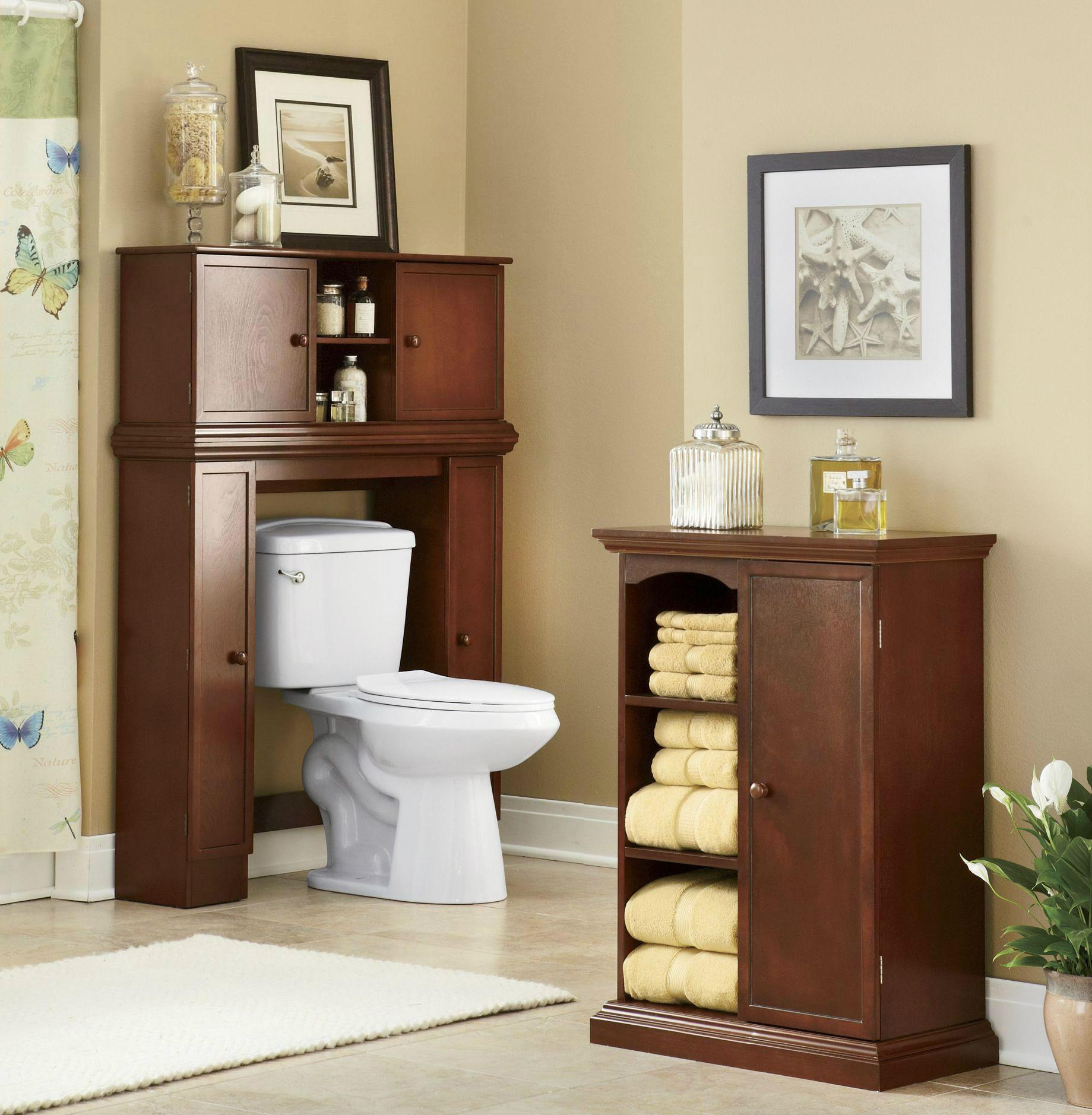 Bathroom Linen Closet Amp Over The Toilet Storage Cabinets