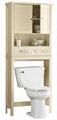 Wooden Two Raise Door Over Toilet Bathroom Space Saver