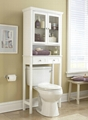 Wooden Two Door Over The Toilet Bathroom Etagere