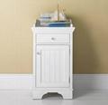 Pinstripe Door Bathroom White Storage Towel Cabinet Units