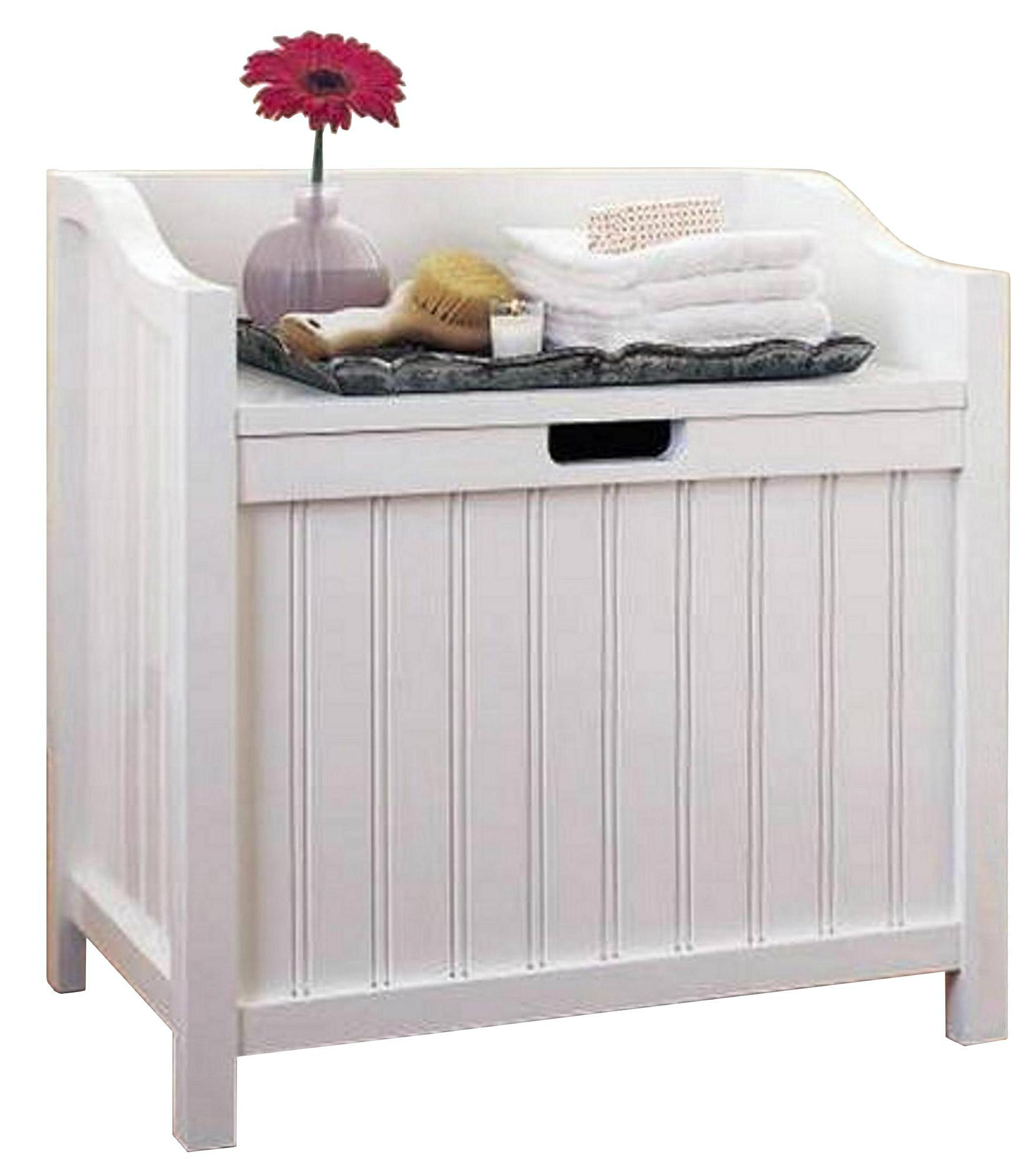Wooden Hamper Bench Style Clothes Laundry Hampers Wd