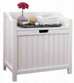 Wooden Hamper Bench Style Clothes Laundry Hampers
