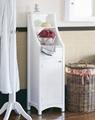Designer One Door Bathroom Linen Towel Tower Cabinet