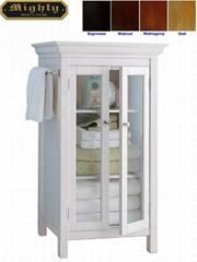 Two Glass Doors With Towel Bars Bathroom Vanity Cabinets