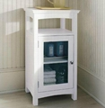 White Bathroom Standing Cabinet Linen Towers Furniture