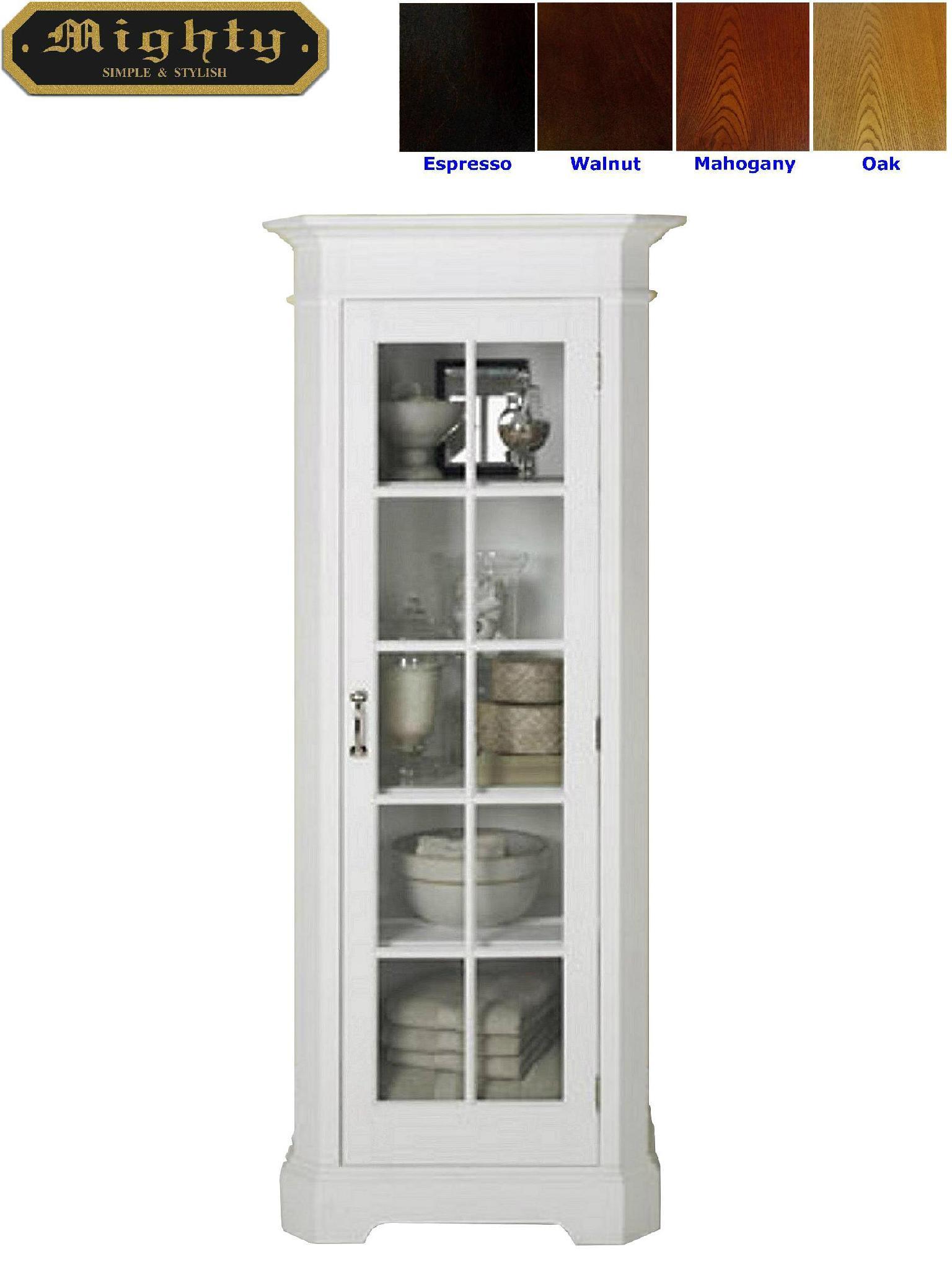 Vintage Linen Cupboards White Bathroom Cabinet Linen Tower - WD-2339 ...