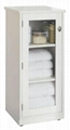 Frosted glass Door Tall Linen Bathroom Storage Cabinet