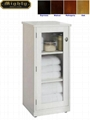 Frosted glass Door Tall Linen Bathroom Storage Cabinet