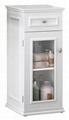One-Drawer Glass Door Modern Bathrooms Linen Cabinet