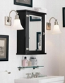 Classic Beveled Mirror Black Wall Medicine Cabinet