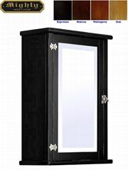 Classic Beveled Mirror Black Wall Medicine Cabinet