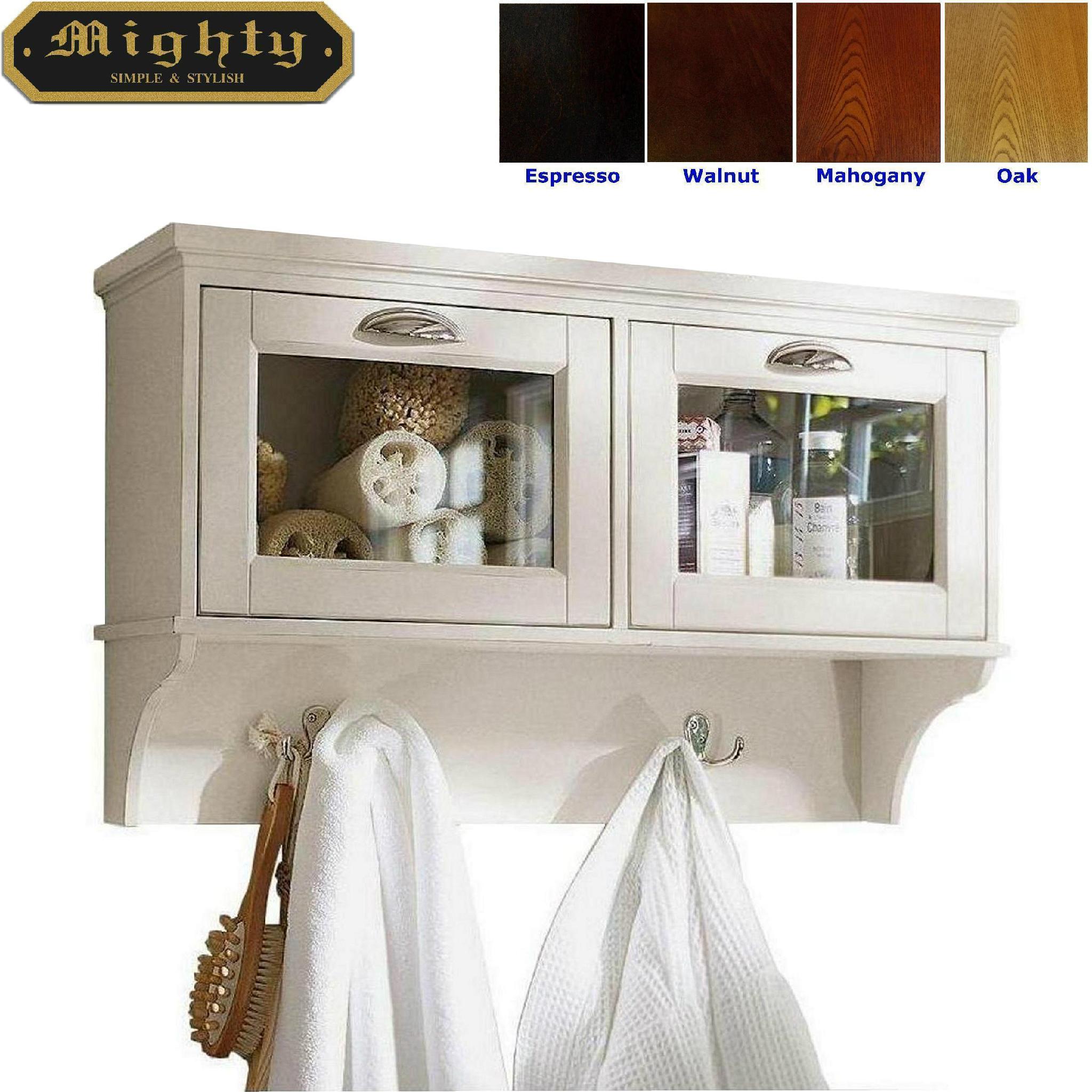 Drop-Down Doors White Bathroom Furniture Bath Wall Cabinet