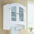 Arch Top White Bathroom Wall Mounted Medicine Cabinet
