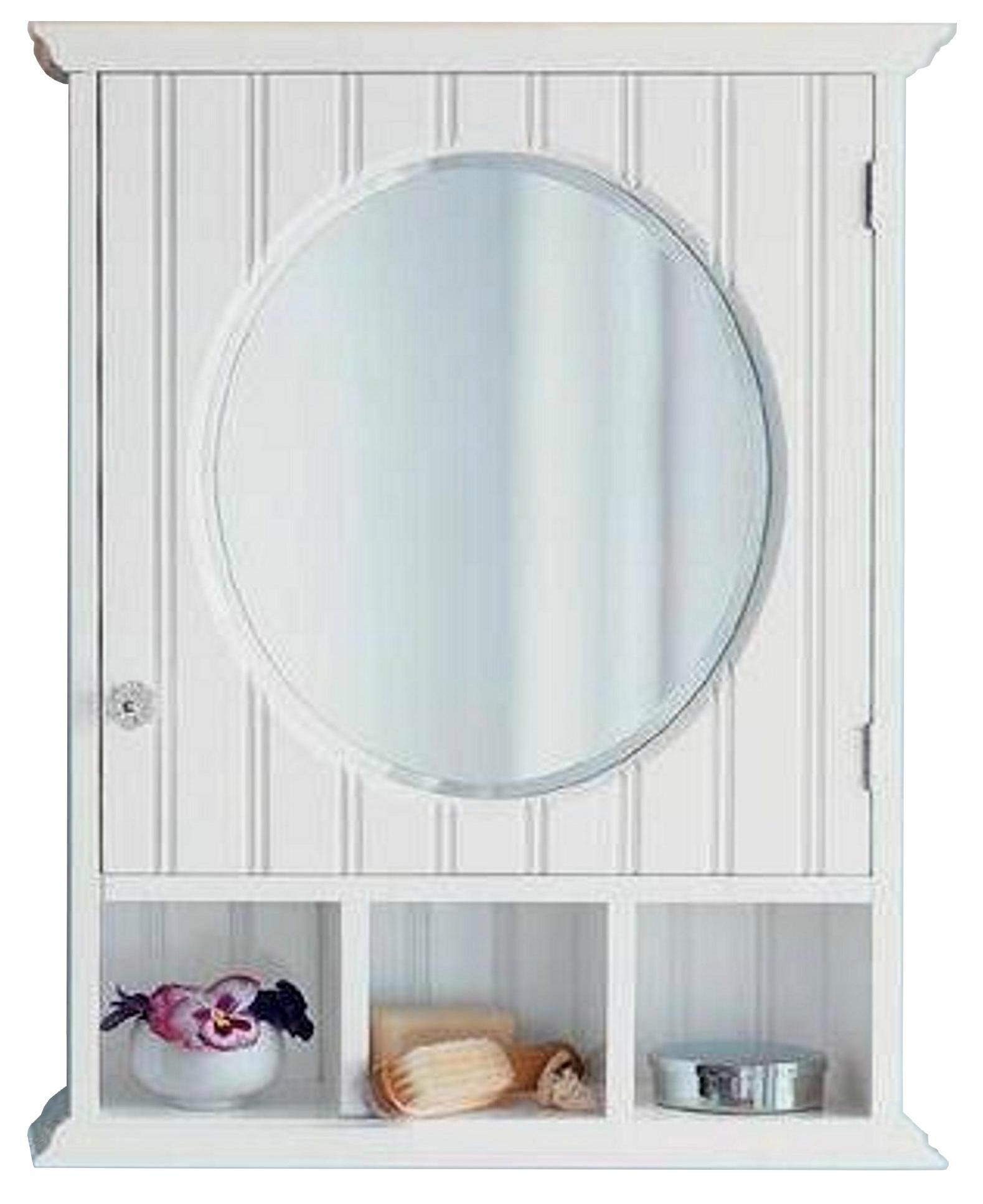 Pinstriped Round Mirrored Bathroom Medicine Cabinets Wd 1703 Mighty Taiwan Manufacturer