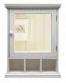 Wooden 3 Cuddy Bathroom Medicine Mirror Cabinet