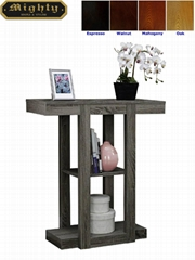 Wooden 2-Tier Antique Narrow Hallway Console Table