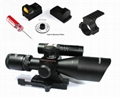 Vector Optics 2.5-10x40 Hunting Green Laser Rifle Scope with Mini Red Dot Sight 2
