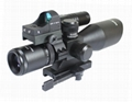 Vector Optics 2.5-10x40 Hunting Green Laser Rifle Scope with Mini Red Dot Sight 3