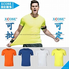 现货速干衣批发跑步健身户外运动圆领短袖空白广告文化T恤衫订制