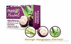 Parrot Herbal Moringa Deodorizing Soap with Mangosteen and Aloe Vera Anti Acne 1