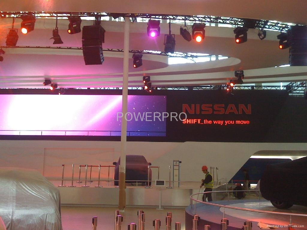 p5 led screen for NISSAN exhibtion