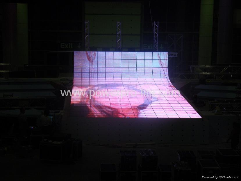 Led dance floor, celebration for new year in Dubai